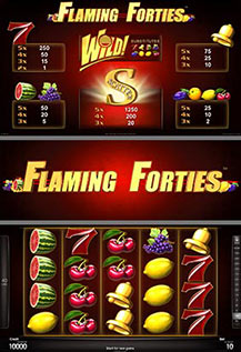 Flaming Forties - game screens