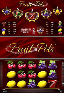 Fruit Pots - game screens